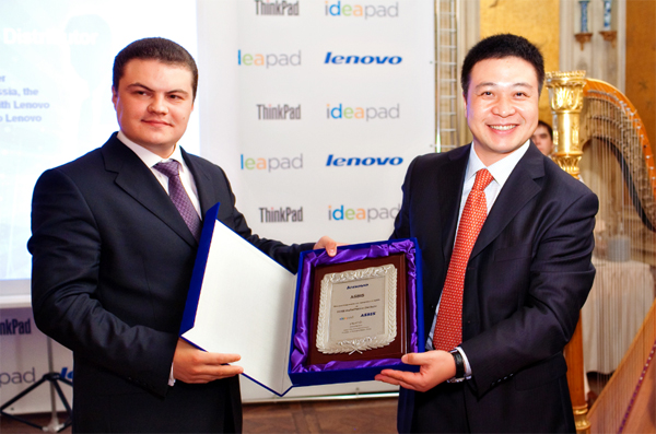 ASBIS Honoured Platinum Distributor by Lenovo in Russia